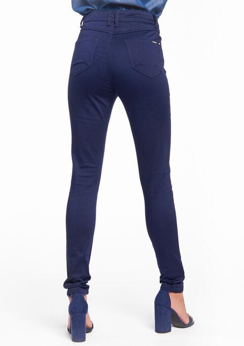 Pantalon taille haute - PEACOAT BLUE - 06003438_1655