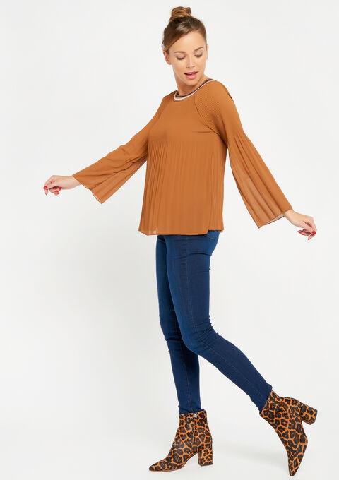 Effen blouse in plissé - CAMEL TRUSH - 05700223_3808