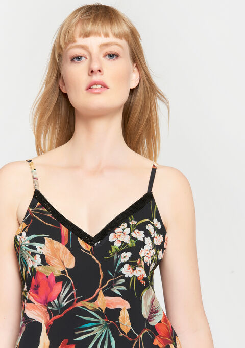 Debardeur met bloemenprint - BLACK BEAUTY - 961897