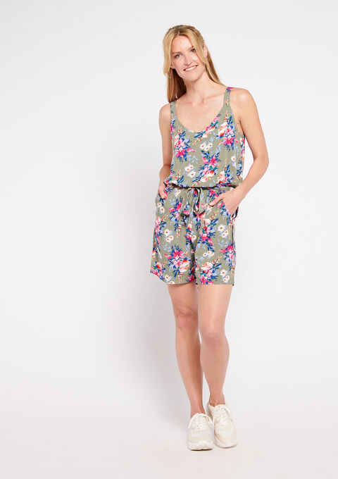 Playsuit with floral print - VETIVER - 06003911_1870