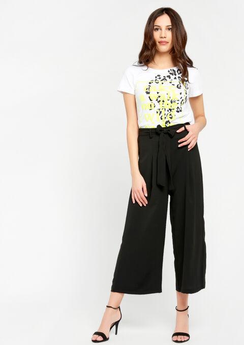 T-shirt met opdruk, fluo details - WHITE ALYSSUM - 941931