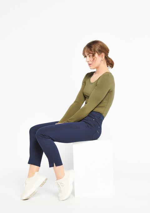 Slim broek met enkel-rits - BLACK IRIS - 918501