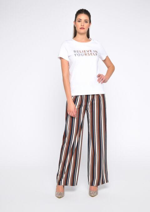 T-shirt imprimé texte - OPTICAL WHITE - 02300398_1019