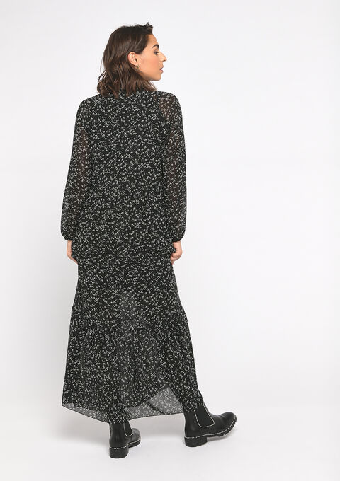 Maxi babydoll jurk - BLACK - 08601033_1119