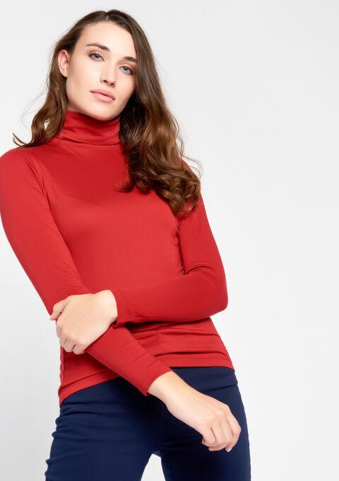 T-shirt met rolkraag & lange mouwen - JESTER RED - 02005634_1445
