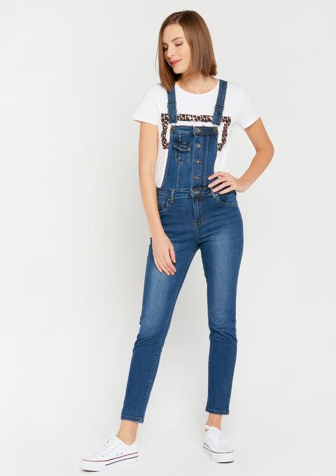 Salopette in jeans - MEDIUM BLUE - 22000146_500