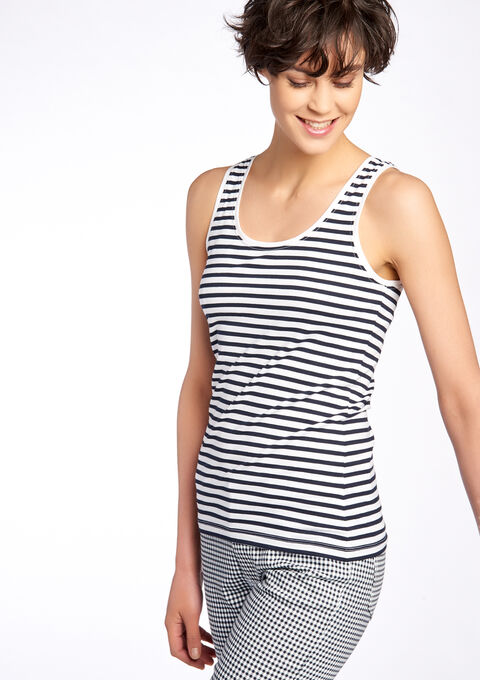 Top with wide straps - WHITE - 02005428_506