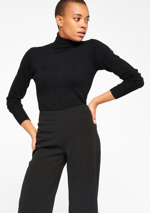 Turtleneck sweater - BLACK - 04004403_1119