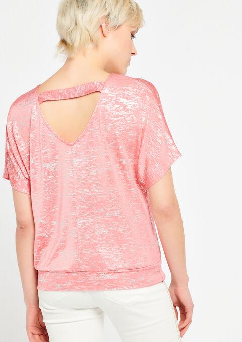 T-shirt met vleermuismouwen - CORAL GERBERIA - 943199