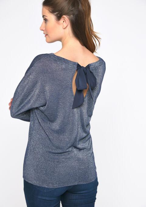 T-shirt lurex - PEACOAT BLUE - 02300484_1655