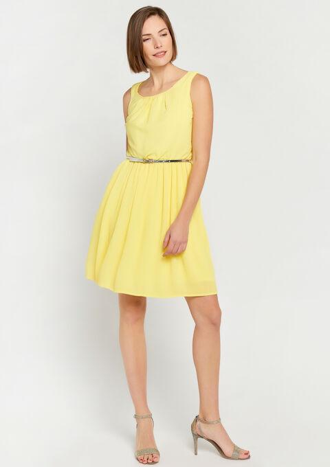 Plissé-jurk - YELLOW ACID - 08100518_5005