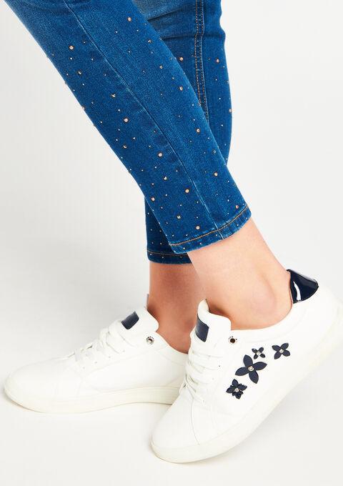 Jeans met strass - BLUE DENIM - 06003544_1638