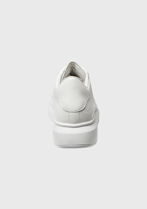 Sneaker, plateauzool, accent in zilver - OPTICAL WHITE - 13000366_1019