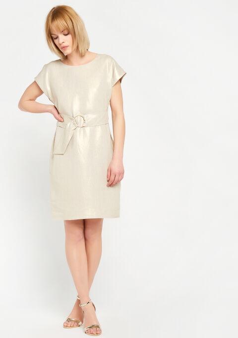 Mouwloze jurk met riem - SIMPLE TAUPE - 928449