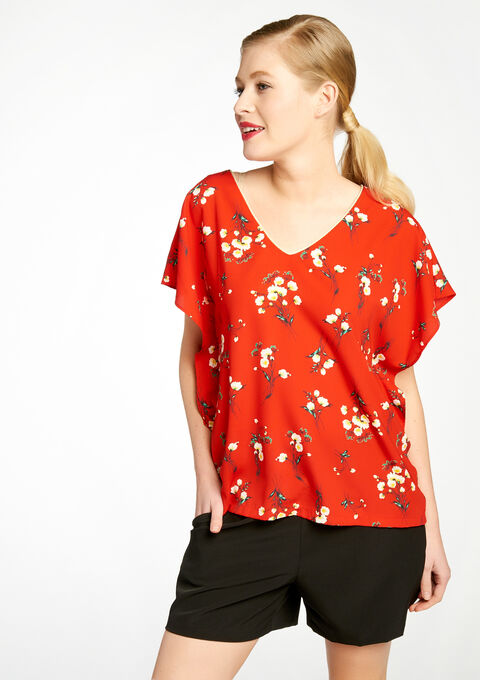 Blouse met print - RED GOJI - 05003342_5300