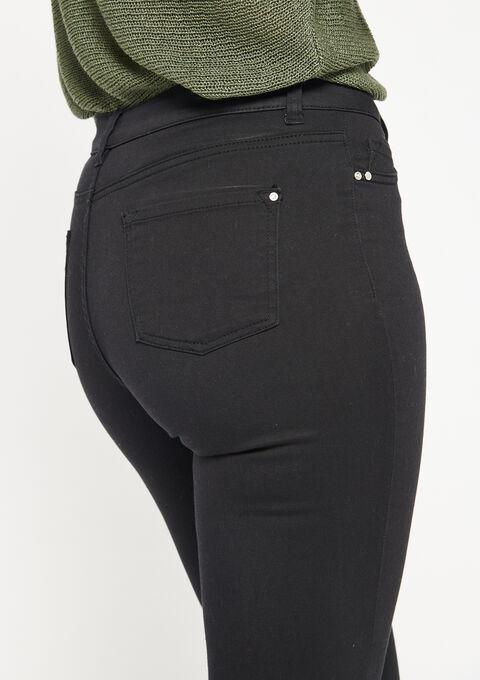 Slim fit broek met enkel-rits - BLACK - 06003788_1119