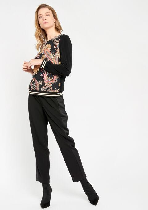 Sweater met paisley print - BLACK - 03001321_1119
