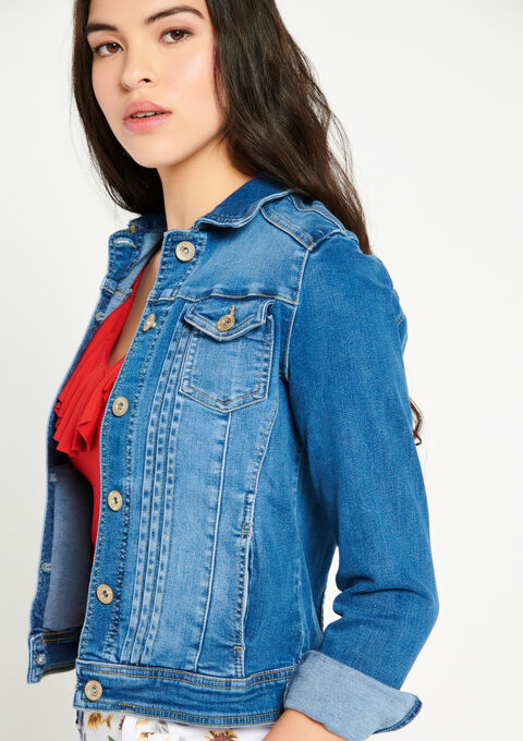 Korte jeansvest - LIGHT BLUE - 09100196_1709
