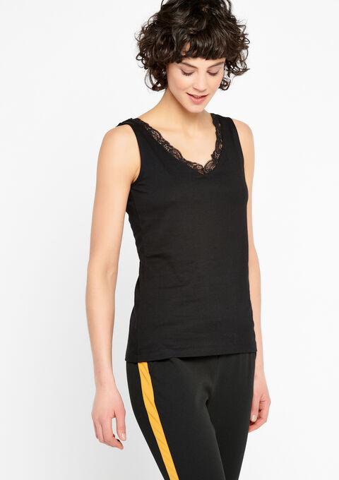Top avec dentelle - BLACK - 02200035_1119