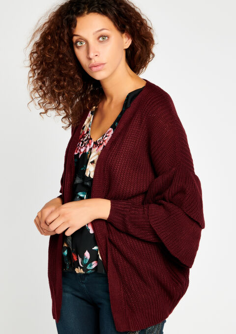 Cardigan - GRAPE BORDEAUX - 04100559_5505