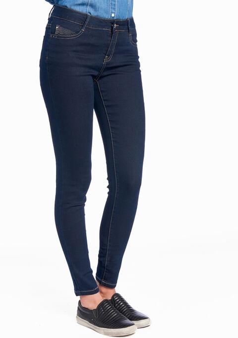 Push-up jeans met zakken - DARK BLUE - 06003082_501