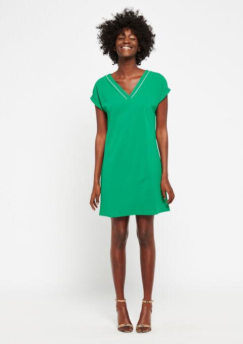 Robe droite manches courtes - GREEN GARDEN - 08100667_4607