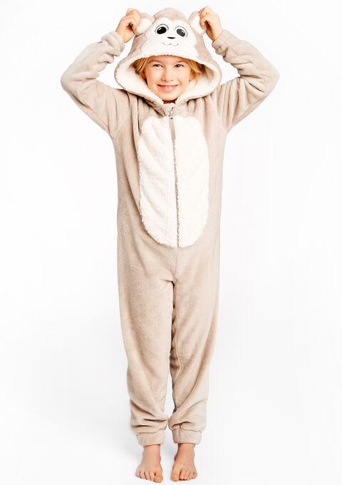 476c37cfed2c1 Combinaison pyjama enfant style singe - W16 LT TAUPE MELANGE - 15000360_1922