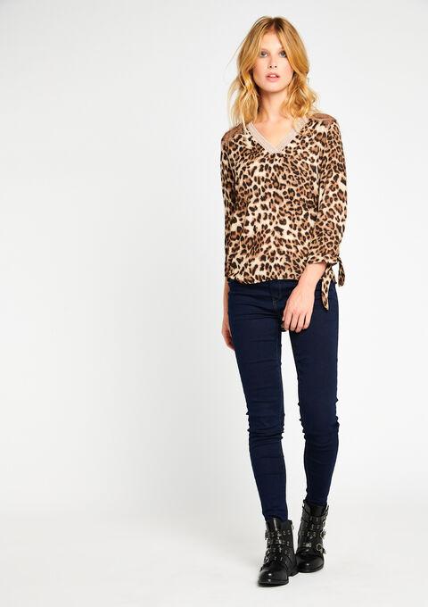 Blouse met luipaardprint - COFFEE BEAN - 05700108_1167