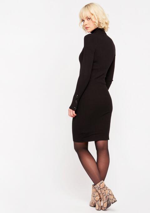 Trui-jurk met col - BLACK - 08100671_1119