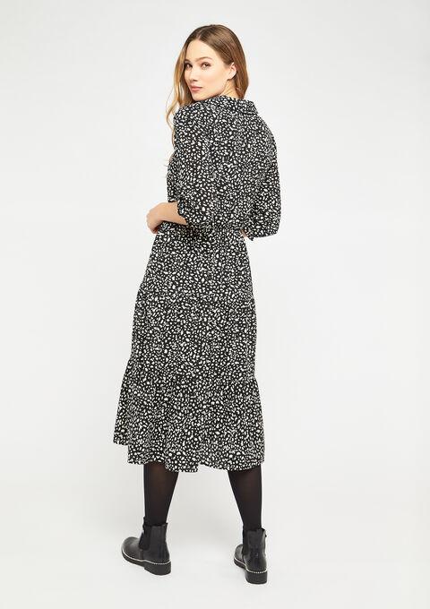 Robe chemise imprimé léopard - BLACK - 08600996_1119