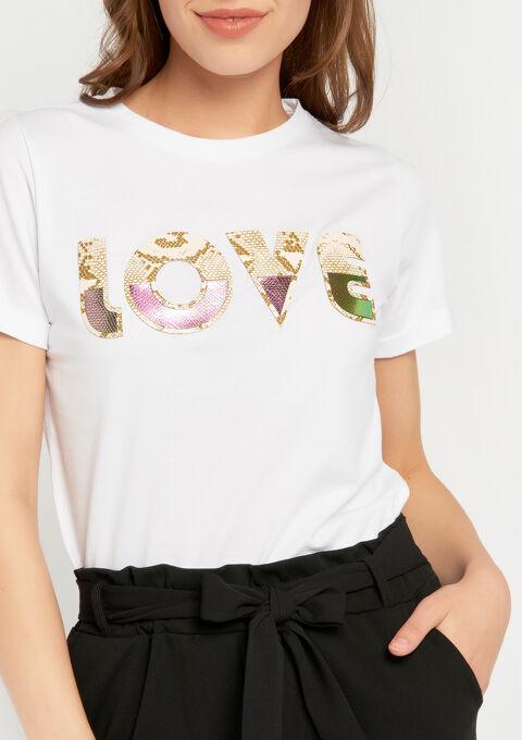 T-shirt met faux-fur print - BRIGHT WHITE - 02300239_1016