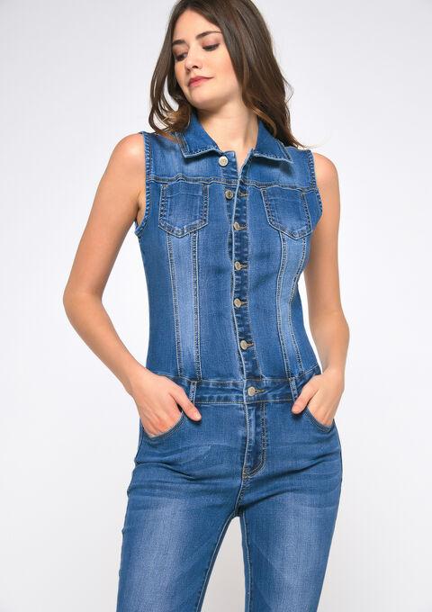 Jumpsuit in jeans - MEDIUM BLUE - 22000145_500