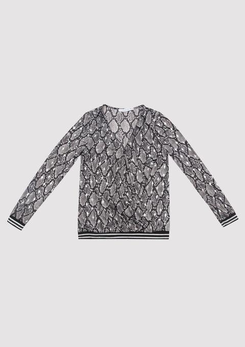 T-shirt met lange mouwen en print - MAGNET GREY - 02400046_1116