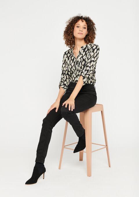 Chiffon blouse - BLACK BEAUTY - 05701216_2600