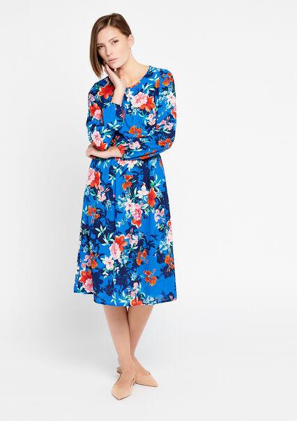 5a74658675b64a Halflange jurk met bloemenprint - BLUE ELECTRICAL - 08100611 2805 ...