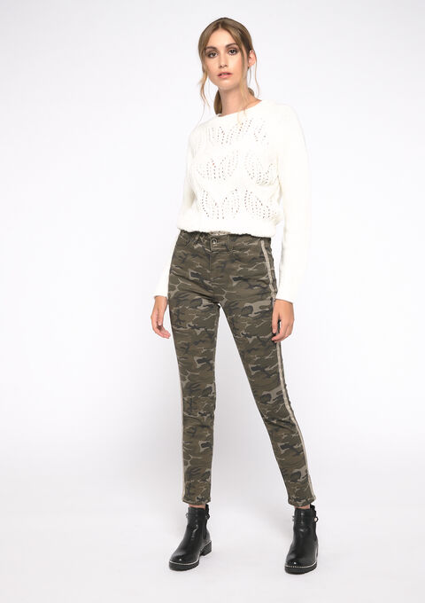 Pantalon imprimé camouflage - KHAKI EARTH - 06003954_4315