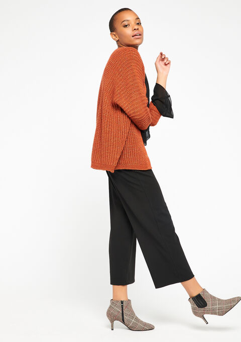 Cardigan - UMBER ORANGE - 04100591_5202