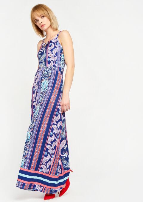 Lange jurk met exotische print - NAVY HEAVEN - 08600110_2711
