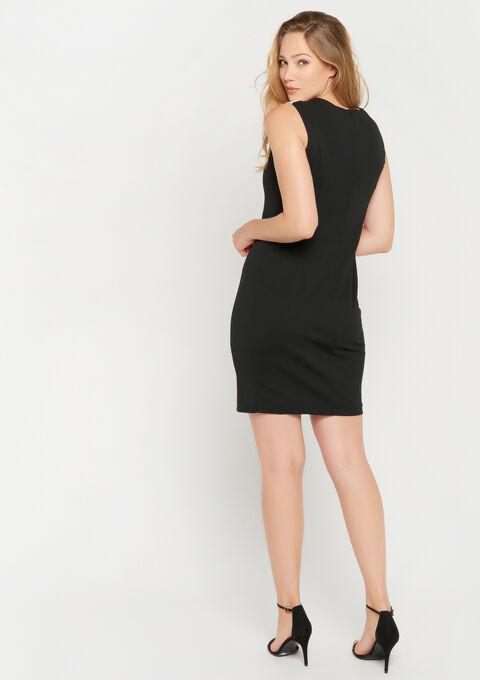 Robe color block - BLACK / PINK - 08101602_2602
