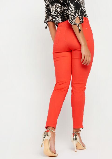 Slim fit broek met enkel-rits - CORAL GERBERIA - 06003788_5405