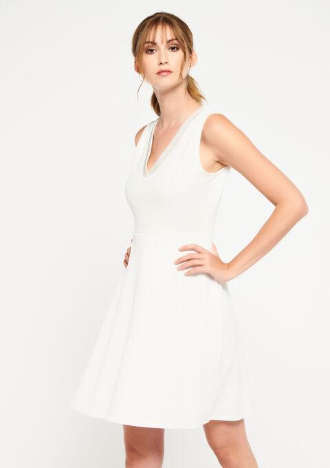 Skater jurk - WHITE ALYSSUM - 08101237_2502