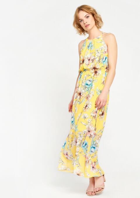 Lange jurk met bloemenprint - YELLOW SUMMER - 08600128_1185