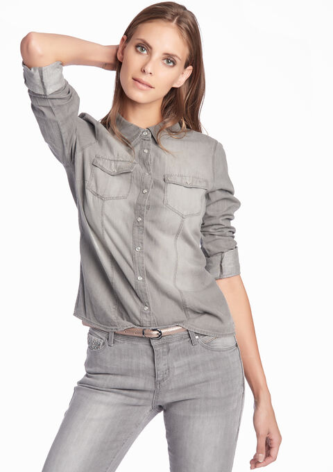 Jeanshemd - LIGHT GREY - 05002906_504