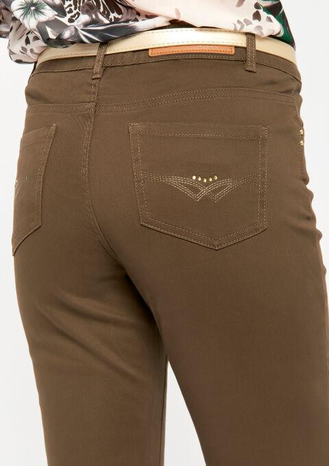 Basic broek met normale taille - WREN KHAKI - 06003550_1895