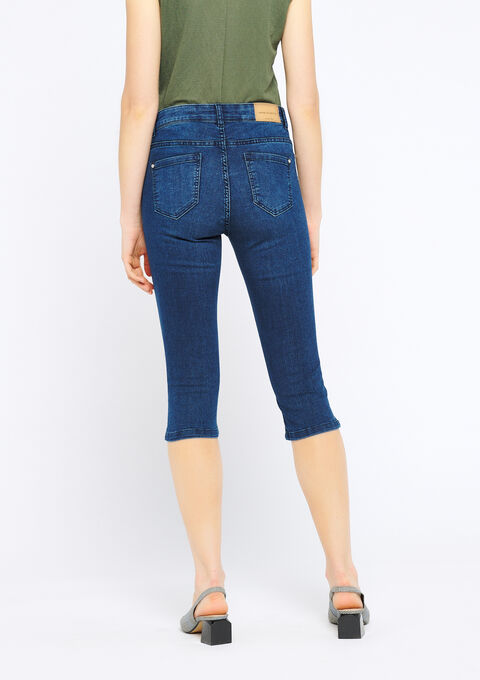 Driekwartbroek in jeans - MEDIUM BLUE - 22000049_500