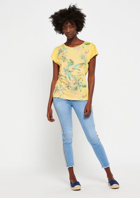 T-shirt met bloemenprint - LEMON CURRY - 02300261_1237