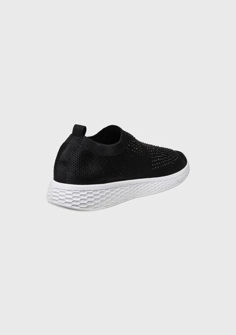Sok-baskets met strass - BLACK - 13000367_1119