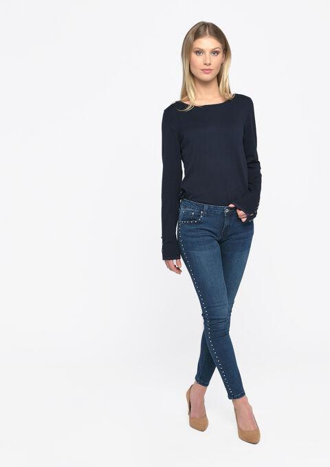 Skinny jeans met studs - DARK BLUE - 22000216_0501
