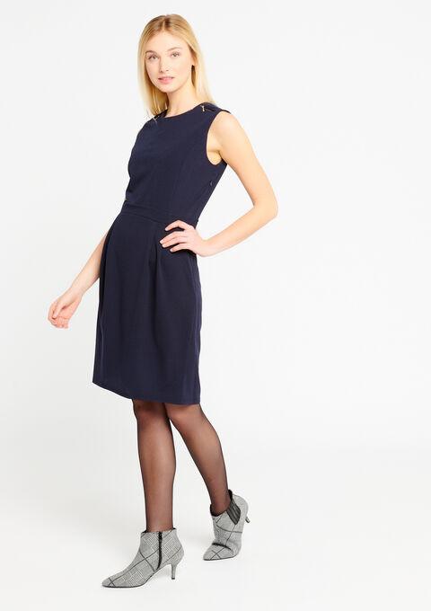 Bodycon jurk met rits op de schouders - NAVY MILD - 08100535_2712