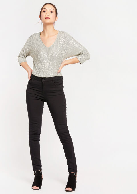 Skinny push up broek - BLACK - 06003984_1119